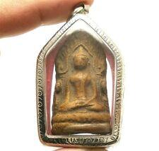 LORD BUDDHA SHINARAJ DHARMA THAI ANTIQUE AMULET LOVE SUCCESS WEALTH RICH PENDANT