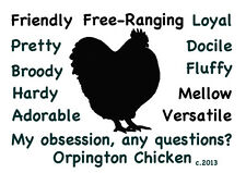 Orpington Chicken My Obsession,Questions? T-shirt Choices of size color