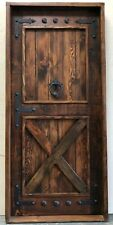 "Rustic reclaimed solid lumber Doug Fir Door 37-1/2 X 81-1/2 2"" Thick Left hand"