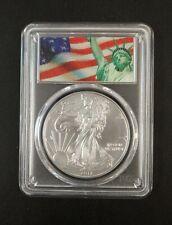 2017 Flag Silver Eagle PCGS MS 70 NASDAQ Collection