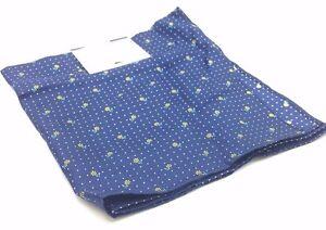 $125 Tommy Hilfiger Mens Blue White Floral Handkerchief Classic Pocket Square