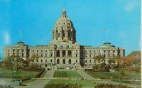 Minnesota State Capital Building St. Paul MN Chrome Vintage Postcard