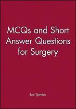 MCQs and Short Answer Questions for Surgery by Joe J. Tjandra, Gordon Ja...