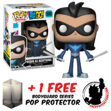 FUNKO POP TEEN TITANS GO ROBIN AS NGHTWING VINYL FIGURE + FREE POP PROTECTOR