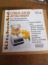 Retro New Kitchen Aid citrus Juicer attachment model K7-CJA NOS NIB