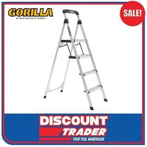 Gorilla GOR-4TT Domestic 120kg 4 Step Single Sided Aluminium Ladder