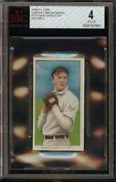 Rare 1909-11 T206 HOF Christy Mathewson Dark Cap Old Mill New York BVG 4 VG - EX