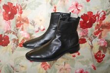 Costume National Black Leather biker boots Made in Italy size 8