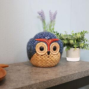Sunnydaze Indoor Tabletop Fountain w/ Ceramic Owl Interior Water Feature -