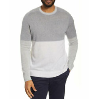 Nordstrom Signature Mens Cashmere Color Block Crew Neck Pullover Sweater 2XL