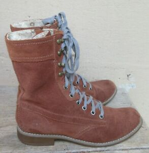 NEW Timberland Brown Suede Boots Side Zipper  Size 8M