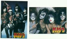 PROMO CARD LOT - KISS - 2 DIFFERENT CARDS - GENE SIMMONS - PAUL STANLEY