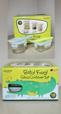 New listing *3 Sets/Boxes~New Nib~18pc ea Glasslock Baby Food Glass Container Pba Free Ship