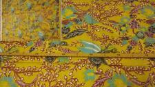 GOLD PATCHWORK BLUMEN BAUMWOLLSTOFF PATCHWORKSTOFF STOFF STOFFE METERWARE  3073