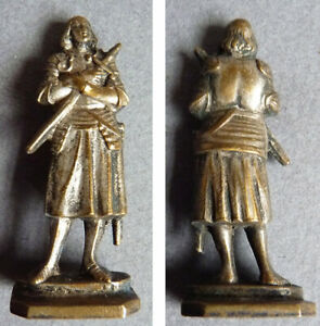 Sceau tampon cachet statuette JEANNE D'ARC 19e siècle seal st Joan of Arc sello