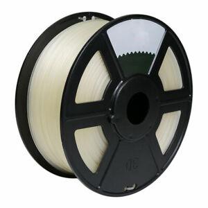 3D Printer Premium PETG Filament 1.75mm 1kg/2.2lb - Transparent