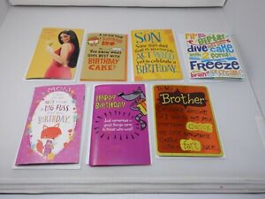 Musical Greeting Cards Lot x7 Assorted  American Greetings New  HC2749