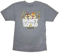 Disneyland Womens Juniors Chip N Dale - Disney Squad Hong Kong Gray T-Shirt M