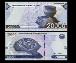 UZBEKISTAN 20000 SUM 2021 YEAR P NEW UNC