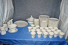 Simpson Pottery Henry Ford Museum Greenfield Village Periwinkle 104 Pc Set L2461