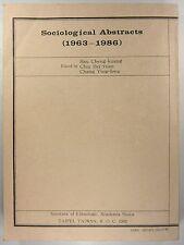 Cheng-kuang, Hsu u.a. (Edit.): Sociological Abstracts (1963-1986).