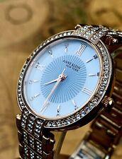 Anne Klein 12/2286MPRG New York Swarovski Crystal Rose Gold Tone Women's Watch