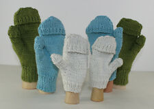 PRINTED KNITTING INSTRUCTIONS -ARAN TEXTING MITTENS GLOVES KNITTING PATTERN