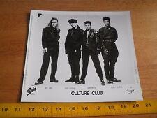 Boy George Culture Club 1986 publicity photo 8x10 Original Epic Virgin