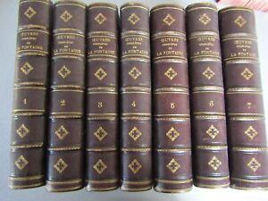 Oeuvres complètes de La Fontaine / Louis Moland / En 7 volumes / Ref 8-1