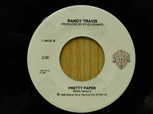 Randy Travis 45 Pretty Paper bw White Christmas Makes Me Blue on WB