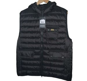 BRAND NEW BARBOUR INTL OUSTON GILET BLACK SIZE LARGE RRP £116