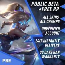PBE League of Legends LOL Account Unlimited BE Unranked Smurf Level 30 PC