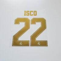 Real Madrid 2019 2020 Isco Shirt Jersey Shirt Name Number 22 Set Gold