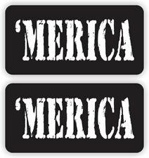 2 Hard Hat Stickers | MERICA | Safety Helmet Decals USA Welding Operator Laborer