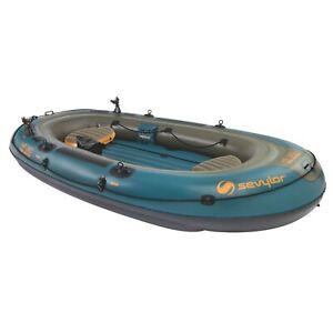 inflatable boat sevylor 6 person fish hunter+berkley rod holders