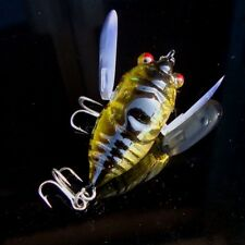 Cicada Sinking Fishing Lures Minnow Crankbait Fish Tackle Treble Hook Bass 40mm