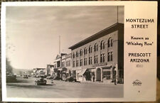 PRESCOTT, ARIZONA, Photo Post Card 1940 Yavapai County, Whiskey Row STREET SCENE