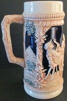 VIntage German Gerz Cobalt Blue and Gray Beer Stein