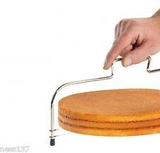 Coupe Gâteau à Fil Double Acier Inoxydable 33 cm Genoise Gateaux Patisserie