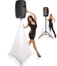 Scrim-King SS-SPK02-W 2- Sided Speaker Stand Scrim Cover - DJ - (4' to 7')