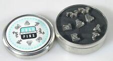 PHOTOGRAPHIC PUSH PINS SET OF 2 WITH ORIGINAL TIN BOX