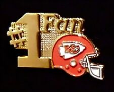 Kansas City Chiefs Pin ~ #1 Fan ~ NFL ~ 80's vintage ~ Football