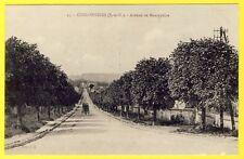 cpa 77 - COULOMMIERS (Seine et Marne) Avenue de MONTAPEINE Attelage