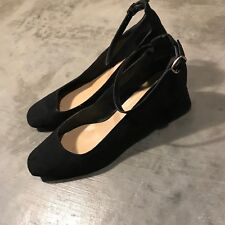 New Look Black Ankle Strap Shoes Heels SZ 8 Shoes Leather pumps