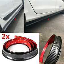 "Universal 4cm Rubber Car Side Skirt Strip Lip Fender Flares Self-adhesive 78.7""2"