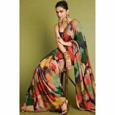 Indian Pakistani Party Wear Saree Bollywood Designer Saree Georgette Fancy Saree