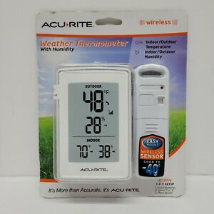 ACURITE WIRELESS WEATHER THERMOMETER WITH HUMIDITY. New