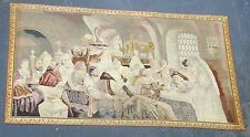 Huge antique 18th century 12f Flemish hand embroidered wall tapestry needlepoint