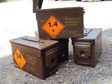 British Army Ammunition Ammo Box 50 Cal Type / Brown Metal Cartridge Tin