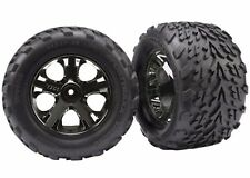 """Traxxas 3669A 2.8"""" Front On All-Star Black Chrome Wheels Talon Tires Stampede"""